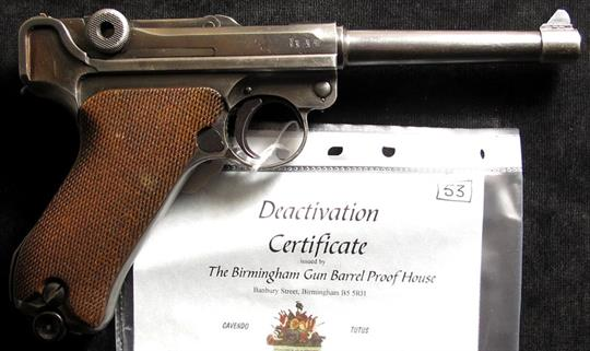 Imperial German Luger by DWM with breech marked `1918`  This