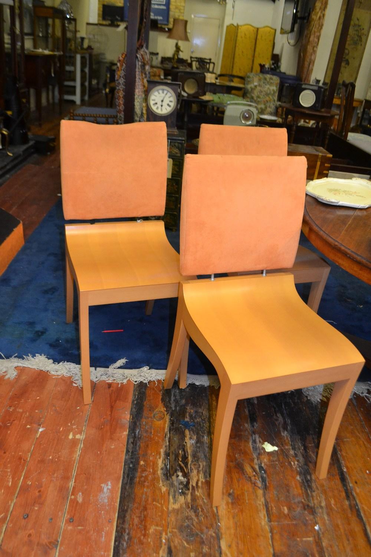 Ligne Roset, France. A set of six \'Finn\' dining chairs, having ...