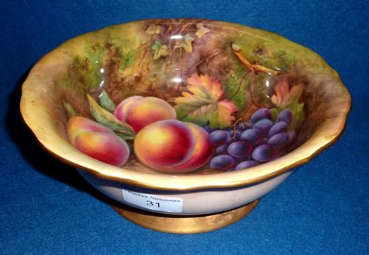 Royal Worcester fruit bowl with painted still life fruit scene by T ...