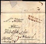Norfolk Postal History - 1822 EL  Cromer/Aylsham Willcocks NK39 XXX Aylsham Penny Post No. 1