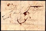 Norfolk Postal History - 1823 EL  Norwich/Attleborough NK17 XX Rated F.  Scarce.