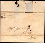 Norfolk Postal History - 1834 EL  Whissy to Lynn Willcocks NK259 XXX Lynn Penny Post No. 1 Rated D.