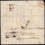 Norfolk Postal History - 1838 EL  Attleborough/Wymondham NK19 XX Attleborough Penny Post + No. 1