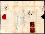 Norfolk Postal History - 1842 EL  Norwich to Saxmundham with Thorpe/Penny Post and F.U. pair (