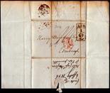 London - 1816 EL  London/Edinburgh Large boxed Additional ½ in Black, XXX