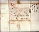 Scotland - 1838 EL  Glasgow/Edinburgh boxed ½ in Black, XXX.