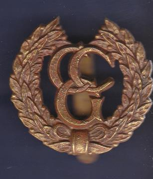 Badge Control Commission Germany Brass The Monogram C C G In A Voided Wreath Slide Fas
