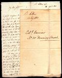 Postal History - 1803/1806  Col Horries No. 20 Downing Street. Looks to been hand delivered