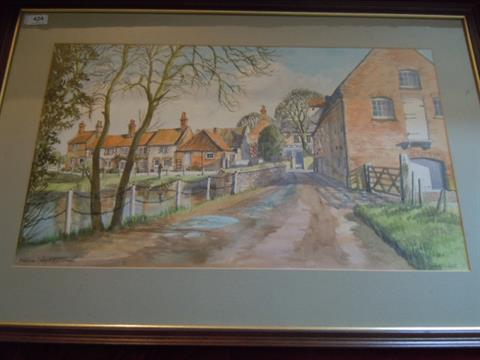 Framed Watercolour By Janet Beckett Burnham Overy Mill Amp