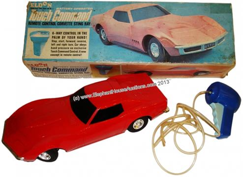 Eldon Touch Command Corvette Stingray Pneumatic Remote Control In Original Box 1968