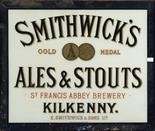 AN EARLY SMITHWICK'S GOLD MEDAL ALES AND STOUTS ADVERTISING POSTER,  by Cherry and Smalldridge