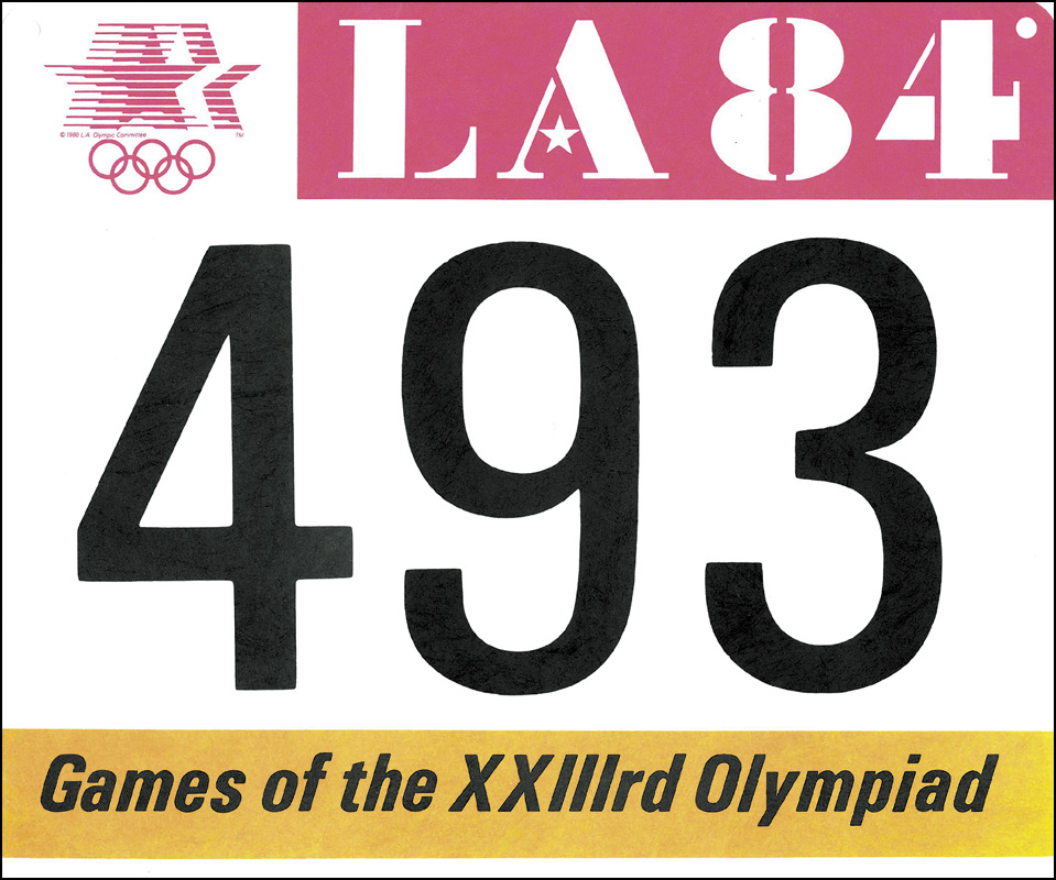Ych Batch Number Three: Olympic Games Los Angeles 1984 Official BIB