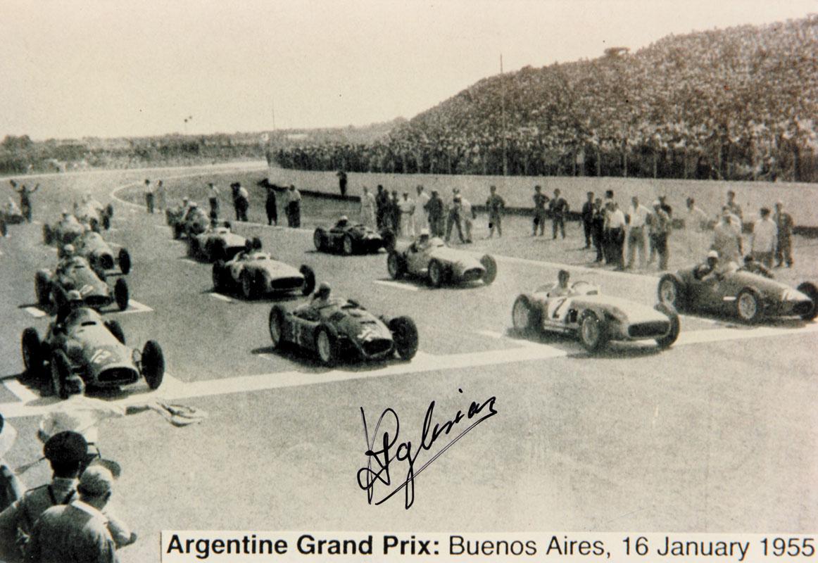 Lot 172 - Grand Prix autograph. Jesus Ricardo Iglesias - Grand Prix autograph Jesus Ricardo Iglesias (1922-