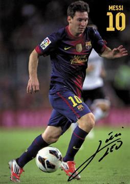 420e8be522e Autograph Football Star Lionel Messi (FC Barca) - Colour autograph ...