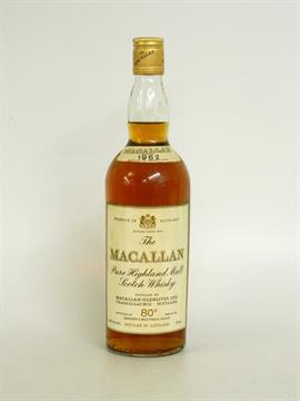 THE MACALLAN 1962 80 DEGREE PROOF Single Malt Scotch Whisky