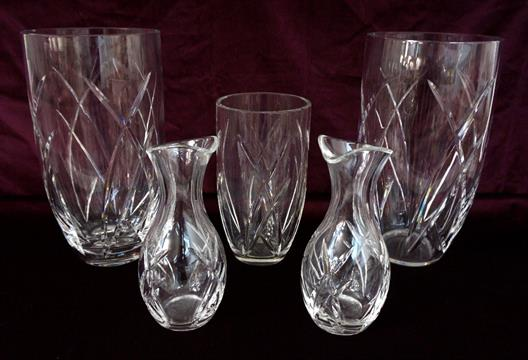 John Rocha Waterford Crystal Signature Vases And Carafes Comprising
