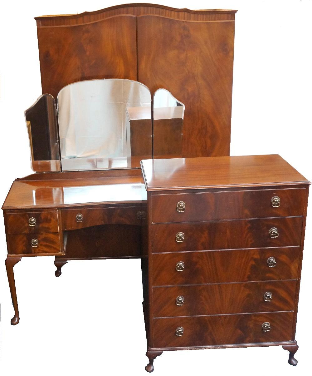 Mahogany Bedroom Suite Beithcraft Mahogany Bedroom Suite Comprising Of A Shaped Two Door