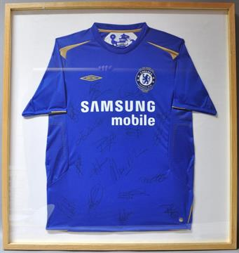 best sneakers 51075 48b10 Chelsea Football Club Centenary shirt, 2005, signed by ...