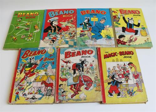 A Collection Of 1950s Beano Annuals Including The Magic Beano Book