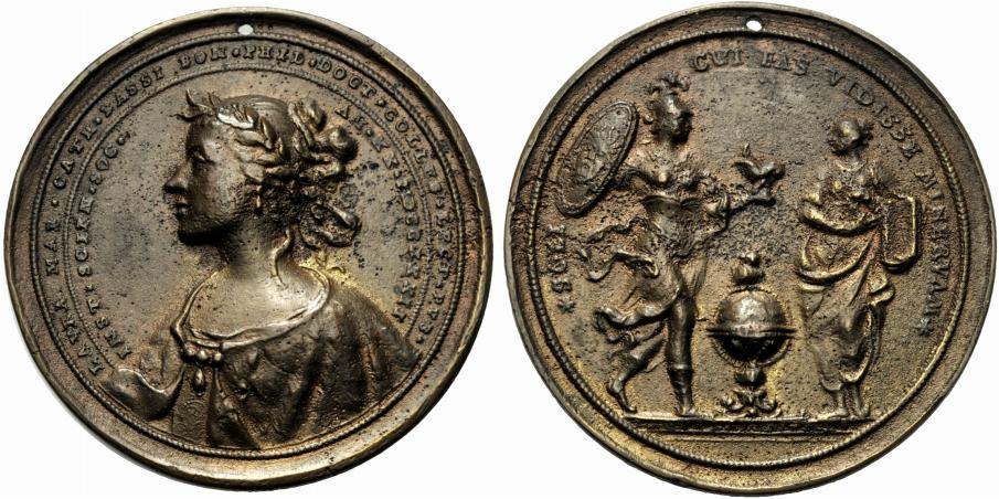 Lot 1464 - Italian Medals Bologna, Laura Maria Caterina Bassi (1771-1778); AE (g 87,5; mm 70); Medaglia 1732,