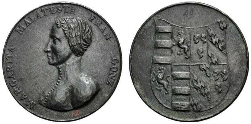 Lotto 1486 - Italian Medals Margherita Malatesta Gonzaga, moglie di Francesco I Gonzaga (ca. 1399) ; ; Medaglia