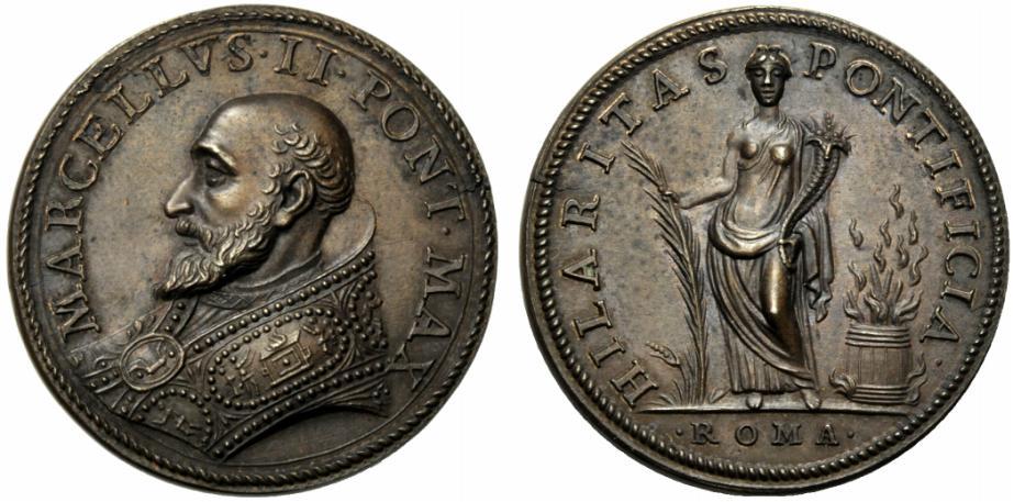 Lot 1759 - Papal Medals Marcello II. Sommo Pontefice (1555). Marcello Cervini di Montefano. Medaglia