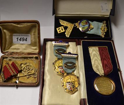 A Masonic jewel, London hallmark, 1945-55