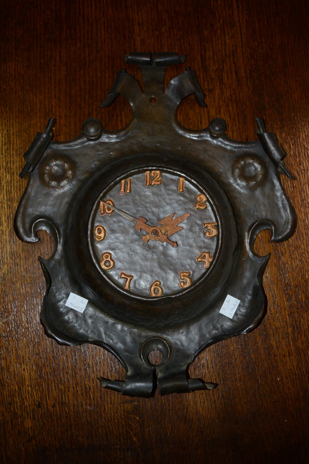 An arts and crafts style wall clock for Arts and crafts style wall clock