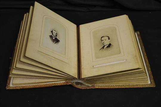 A C1870 Carte De Visite Photo Album With Photos 1860
