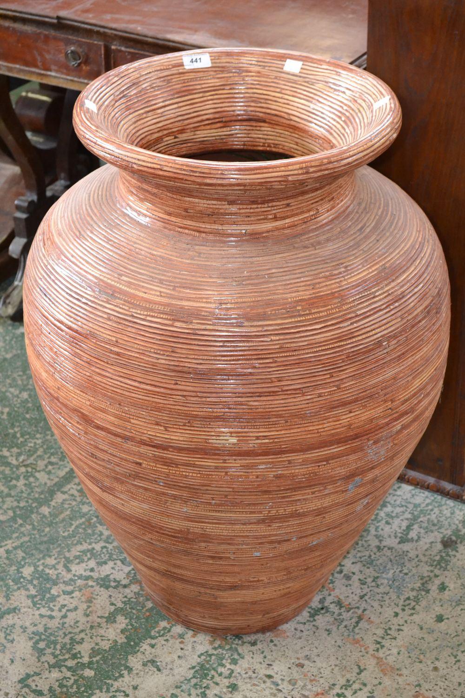 A large rattan effect terracotta floor vase lot 441 a large rattan effect terracotta floor vase reviewsmspy