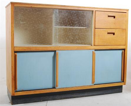 A 1950 39 S Kandya Formica And Beech Wood Retro Kitchen Dresser
