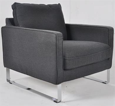 Amazing An Ikea Mellby Dansbro Dark Grey Chrome And Fabric Armchair Beutiful Home Inspiration Cosmmahrainfo