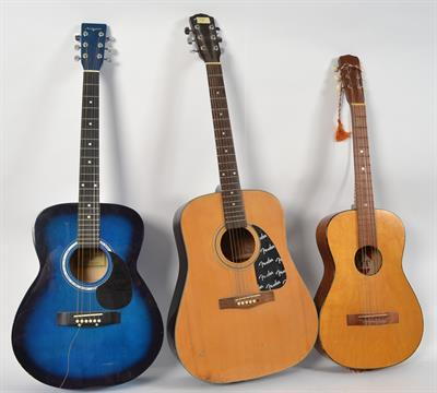 Guitars A Fender Acoustic Guitar Along With A Martin Smith Acoustic