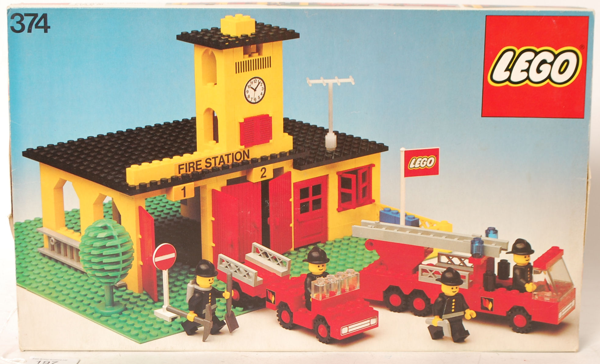 Lego An Original Vintage Lego Town Fire Station 374 Boxed Set With