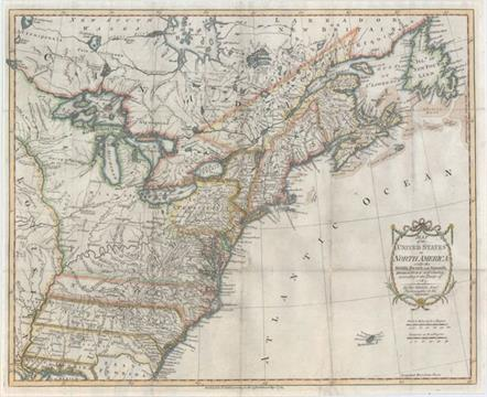 Kitchin, Thomas 1783 Map of the United States in North America: with ...
