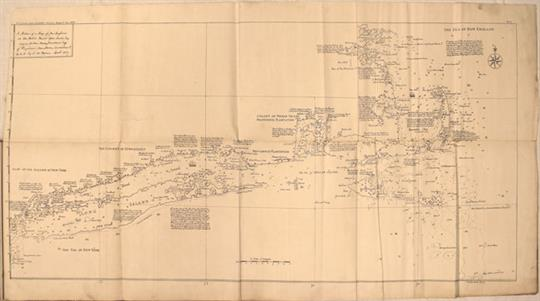 US Coast Geodetic Survey 1890 Map in Report Notes on an Early