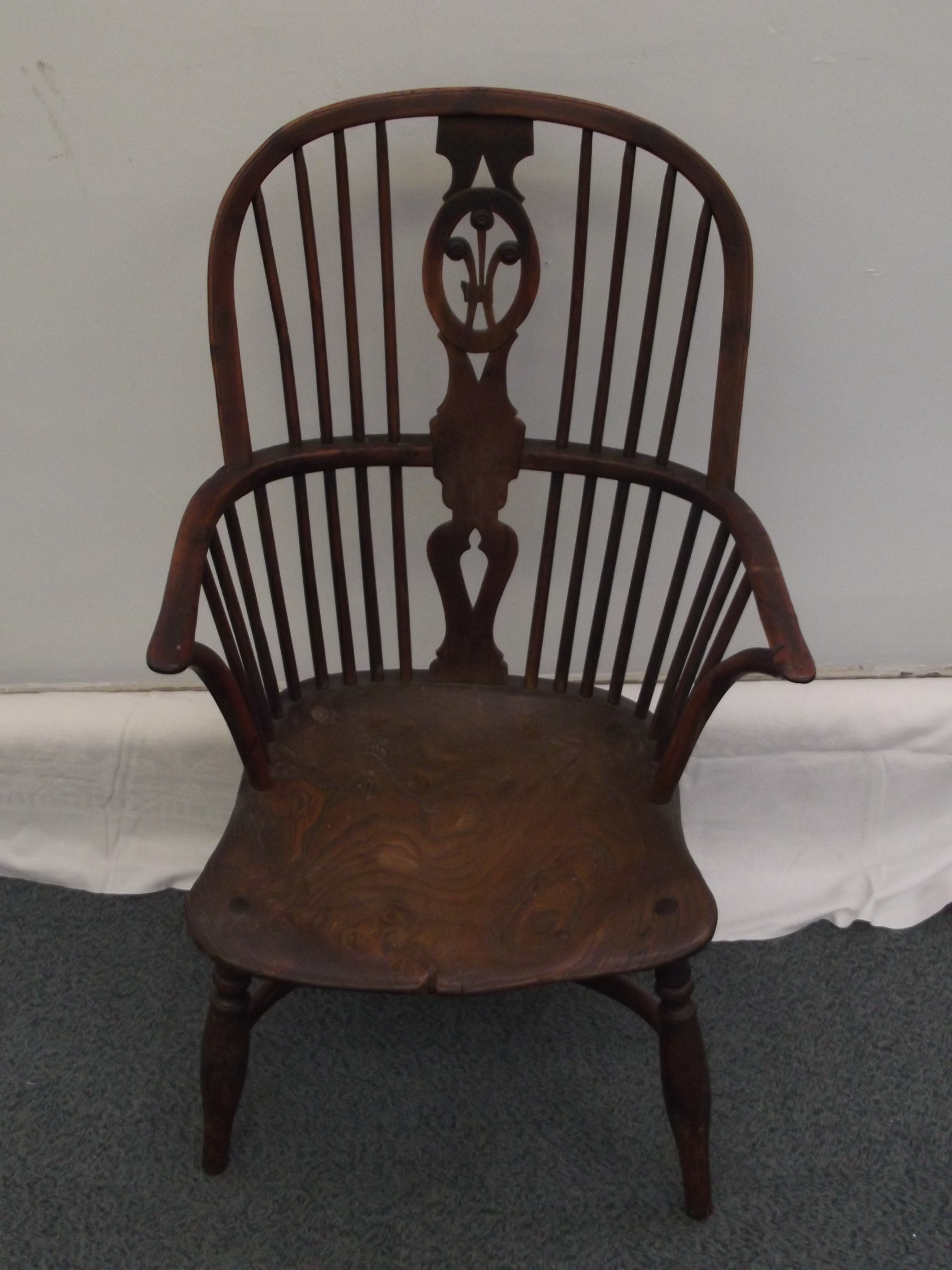 Narrow Armchair C19th Windsor Narrow Armchair In Elm And Yen Wood Some Damages