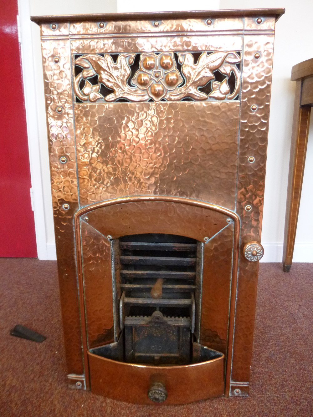 Copper pither (stove) with Art Nouveau style decoration, believed ...