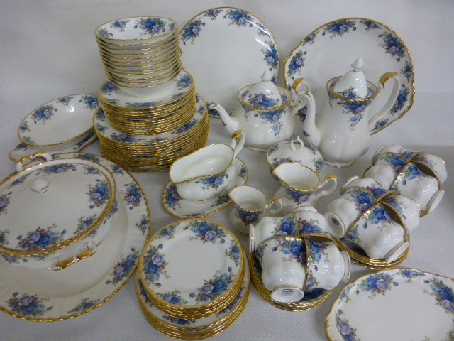 Lot 340 - A large collection of Royal Albert & A large collection of Royal Albert u0027Moonlight Roseu0027 tea/dinner set ...