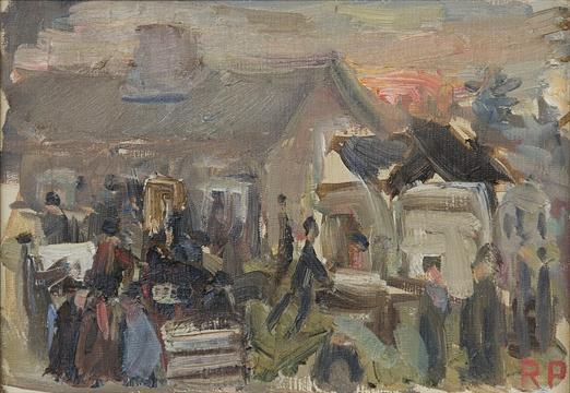 Ragnar Persson 1905 1993 Oljemalning Pa Duk Auktion Pa