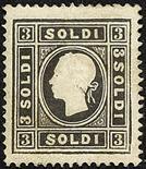 Lombardo Veneto II emissione - I tipo 1858 3 s. nero - Da esaminare