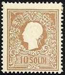 Lombardo Veneto II emissione - I tipo 1859 10 s. bruno chiaro - Certificati Colla