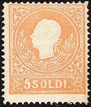 Lombardo Veneto II emissione - I tipo 1858/59 Seconda emissione 10 s. bruno I tipo e 5 s. rosso II