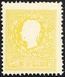Lombardo Veneto II emissione - II tipo 1859 2 s. giallo - Certificati Bolaffi e Colla