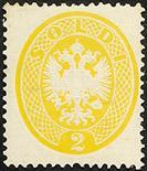 Lombardo Veneto IV emissione 1863 2 s. giallo - Certificati Matl