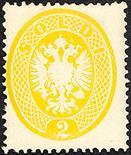 Lombardo Veneto IV emissione 1863 2 s. giallo quattro esemplari