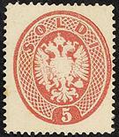 Lombardo Veneto IV emissione 1863 5 s. rosa - Da esaminare