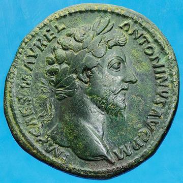 bdbcbdcca9 Monete Romane Imperiali Marco Aurelio (161-180 d.C.) - Sesterzio databile  agli anni 161-162 d.C.