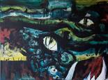Marion Kerns-Robbert Germany `Wilderness 11` Oil on canvas 80cm x 60cm signed & unframed