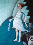 Elisabeth Kopjar Germany `Kindes Kinder` Oil on canvas 60cm x 80cm signed & unframed